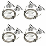 4 Packs 6.5ft/2m Picture Hangers Stainless Steel 304 Cable Rope 66ib/30kg Load