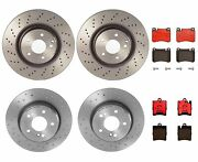 Brembo Front And Rear Brake Kit Ceramic Pads Disc Rotors For Mb A209 C209 With P90