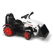 Bobcat Construction Tractor Kids Electric 6 Volt Ride On Toy With Music And Horn