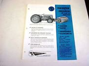 Mb Sweeper Sales Sheet For Ferguson 30 And 35 Tractors