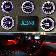 For X253 W253 Benz Glc Class 2015-2021 64 Colors Air Vent Ambient Lights Turbo