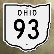 Ohio State Route 93 Highway Marker Road Sign Diecut Map Outline