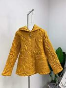 2020 Winter Plus Size Women Cotton Coats Vintage Embroidered Miyake Pleated