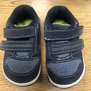Toddler Boys 4m Leather Stride Rite Washables Shane Shoes Easy On Very Good