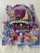 Hatchimals Pixies Riders Lilac Luna And Swanling Glider - Spinmaster Brand New