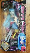 Monster High Doll - Ghoulia Yelps - Freaky Fusion - New Box Damaged - 2014 Rare