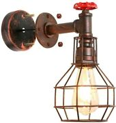 Vintage Wall Light Fixture Farmhouse Sconce Industrial Water Pipe Metal Decor