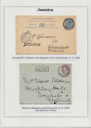 Jamaica 1898, 1900, Two Postcards To Gb And Germany