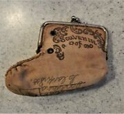 Three Dimentional Postcard - Shoe Shaped Purse With Metal Clasp Circa 1910