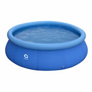 Jleisure 12 Ft X 30 Prompt Set Inflatable Outdoor Backyard Swimming Pool