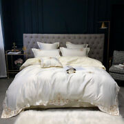 2021 Home 4 Pcs Of Luxurious Satin Cotton Embroidered Bedding Kit Quilt Cover