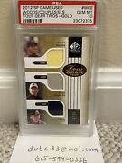 2012 Sp Game Used Tiger Woods Couples Els Tour Gear Trio Gold Psa 10 21/25 Wow
