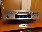 Onkyo Md-133 Hi-md Mini Disc Recorder Silver High Speed Mdlp Silver Used