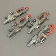 4pcs Gears Of War Machine Gun Weapon Accessory Fits 7'' Solider Action Figures