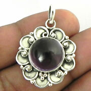 925 Sterling Silver Pendant Necklace Amethyst Oxidized Jewelry Women Ps-1737