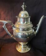 Wood And Hughes Sterling Silver Gothic Coffee Pot W/ Beading, Engraving And Mono