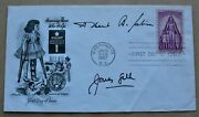 Infantile Paralysis 1957 Usa Fdc Signed By Scientists Jonas Salk And Albert Sabin