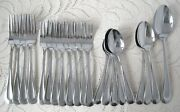 Oneida Stainless Flatware Satin Sand Dune Lot Forks And Spoons 21 Pieces
