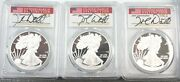 Set Of 3 Proof Silver Eagle 2020-w Pcgs Pr70 Dannreuther First Day 3 Cities Q1jk