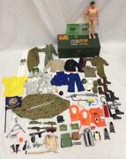 Vintage 1964 Gi Joe Clothing And Accessories- Marine And Air Manual And Case