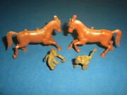 4 Marx Super Circus 1950's Figures Playset The Big Top Performers Lot 11