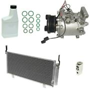 Ryc Remanufactured Complete Ac Compressor Kit Ad44 Gg497 With Condenser