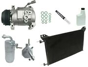 Ryc Remanufactured Complete Ac Compressor Kit Ci97 Gg348 With Condenser