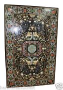 4and039x2and039 Marble Dining Table Top Rare Mosaic Inlaid Semi Previous Decor H1476