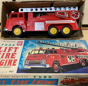 Yonezawa Ford Fire Engine With Tin Toy With Box 0311 M