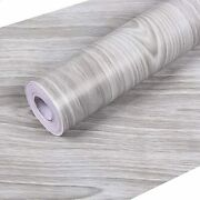 Gray Wood Contact Paper 17.7andrdquox 118andrdquoself-adhesive Wood Wallpaper Thick Waterproof