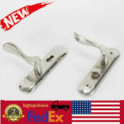 Door Security Entry Lever Mortise Stainless Steel Handle Lock Set Silver Us Ship