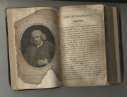 Antique Johnsons Dictionary In Miniature 1799 Old Leather Bound Restoration
