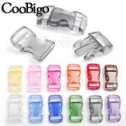 3/8 Colorful Curved Side Release Plastic Clear Buckles For Paracord Bracelet