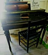 Antique 1917 Umphrey Quality Tables Library Writing Table Desk Matching Chair