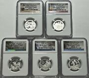 2016 S Proof Silver Quarter Set Ngc Pf70 Ultra Cameo Early Realease Atb National