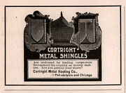 Ad Lot Of 6 1905 - 1917a Ads Cortright Metal Roofing Co Shingles Construction
