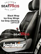 Leather Seat Covers Kit 07-13 Toyota Tundra Crewmax Crew Double Cab Black Gray