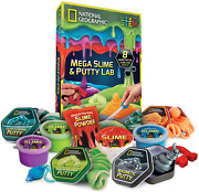 National Geographic Mega Slime Kit Putty Lab - 4 Types Of Amazing Slime For Gi