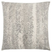 Rizzy Beige Transitional Metallic Monochrome Lines Throw Pillow Striped T13191
