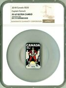 2018 Canada S20 Captain Canuck Ngc Pf67 Ultra Cameo W/ Mint Box And Coa Ogp
