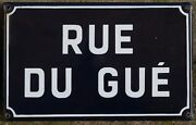 Old French Street Sign Enamel Plate Road Plaque Guandeacute Lookout Watchtower Auvergne