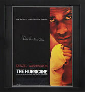 Framed Rubin Hurricane Carter Signed 24x18 Boxing Movie Poster With Coa And Proof