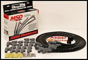 Msd Super Conductor Universal Wires Black, 90° Boots. Msd-31233-black Wires