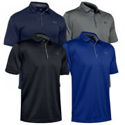 Under Armour Menand039s Ua Tech Performance Golf Polo Tee Loose-fit T-shirt 1290140