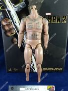 Hot Toys Mms569 Iron Man 2 Whiplash 1/6 Action Figure's Nude Tattooed Body Only