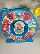 1989 Mattel See N' Say And The Farmer Says Animal Sounds Vintage Toy Blue Works