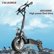 Electric Scooter With Seat Foldable Fat Tire 2400w 75 Km/h