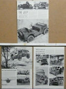1941 1942 Willys Jeep News Article From Life Magazine