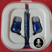 Earbuds Blue Color With Mic, Cord, Audio Jack Stereo, 3 Years And Older.