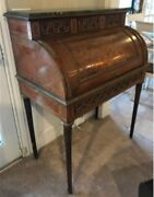 Antique French 18th Century Louis Xvi Cylinder Writing Desk